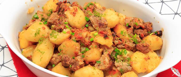 Kartofel' tushenyj s myasom