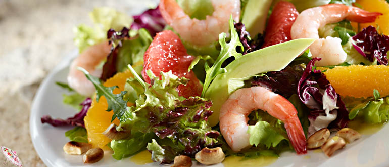 Salat s krevetkami