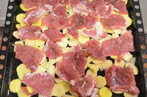 Рецепт приготовления мяса по-французски с картошкой