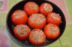 Рецепт приготовления фаршированных помидоров