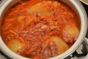 Рецепт приготовления перца фаршированного мясом и рисом