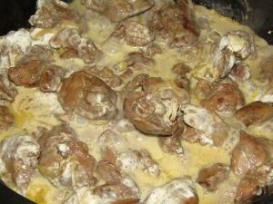 Рецепт куриной тушеной печени