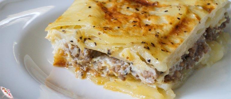 Zapekanka kartofel'naya s myasom