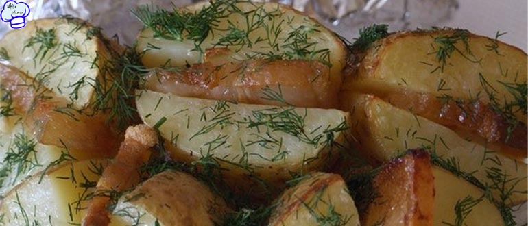 Картошка с салом запеченная в фольге