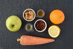 как приготовить салат из моркови и яблок с апельсинами
