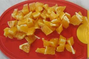 Ингредиенты для приготовления салата из моркови и яблок с апельсинами