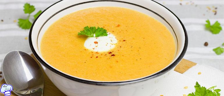 Нежный суп пюре из овощей с горохом