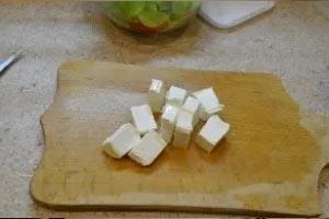 Ингредиенты для приготовления салата греческого