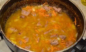 приготовление овощного рагу с мясом