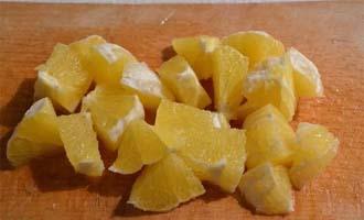 как приготовить салат с курицей, апельсином и корейской морковью