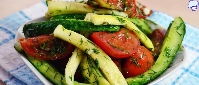 Обалденные малосольные помидоры-огурцы