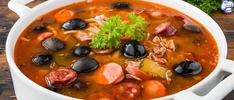 Очаровательный суп-солянка