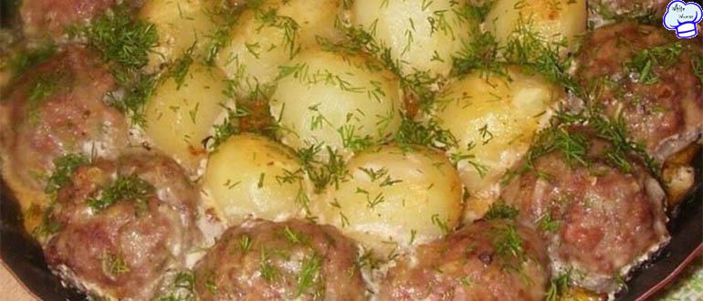 Отличные котлетки с картошкой в сметанно-томатном соусе