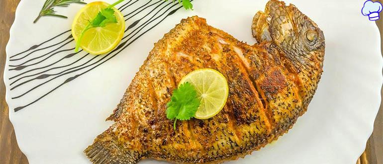 Рыба с лимонно-масляным соусом