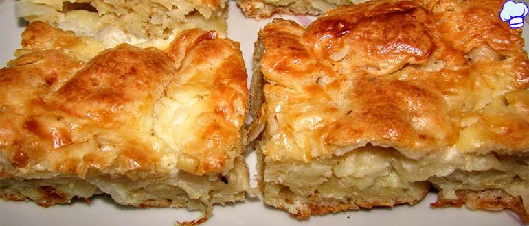 Пирог с капустой Лентяй