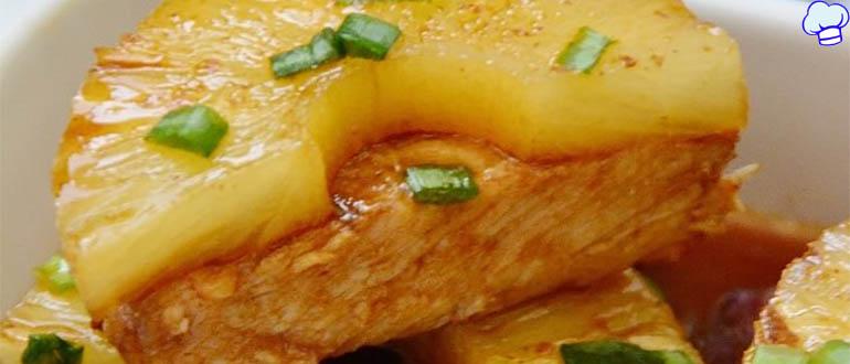 Свинина с ананасами в соусе терияки