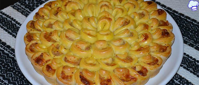 Творожный пирог Хризантема