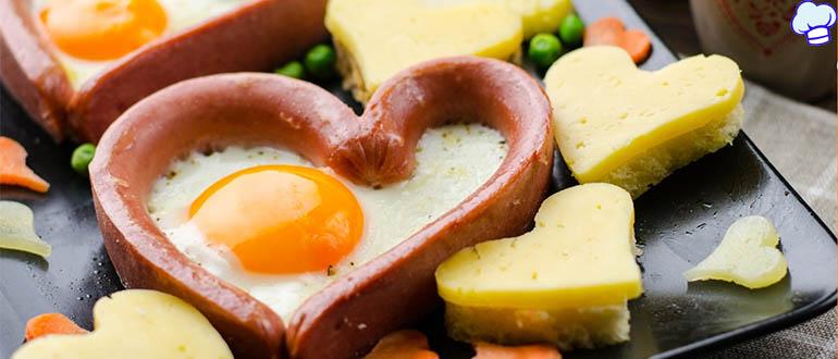 Яичница Сердце к завтраку